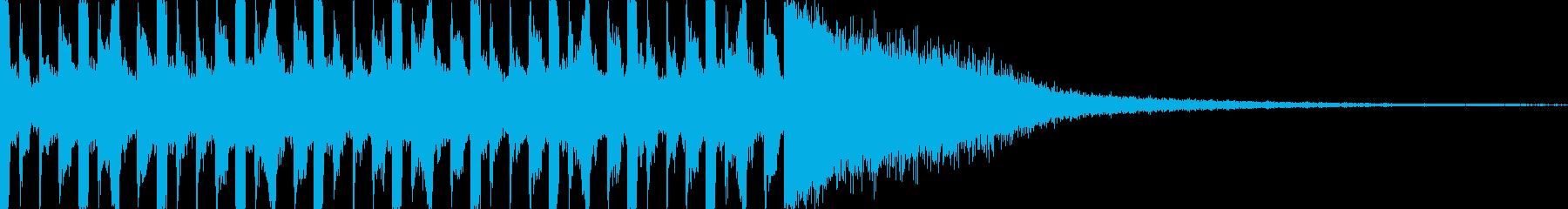 不穏/緊迫したカウントダウン(10秒)の再生済みの波形