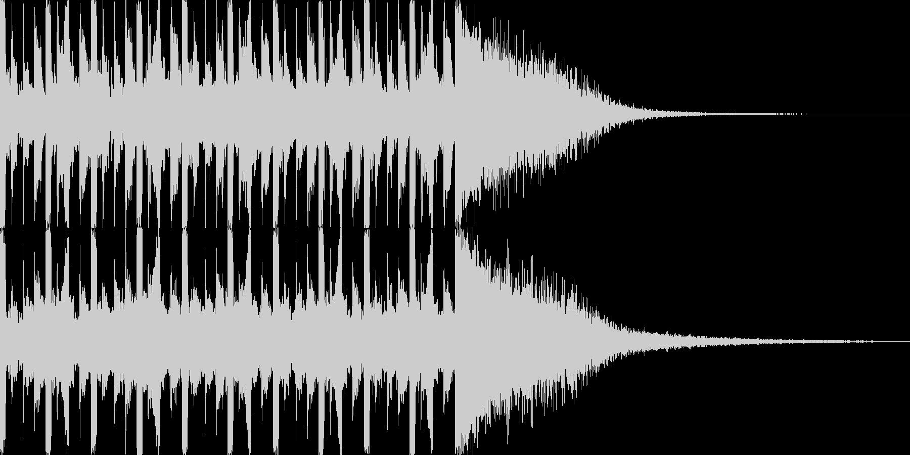 ネガディブなカウントダウン(10秒)の未再生の波形