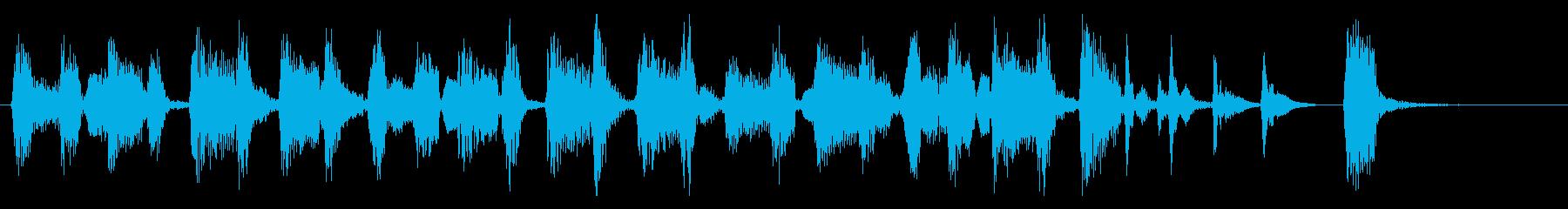 少し暗くて怪しいジプシージャズのジングルの再生済みの波形