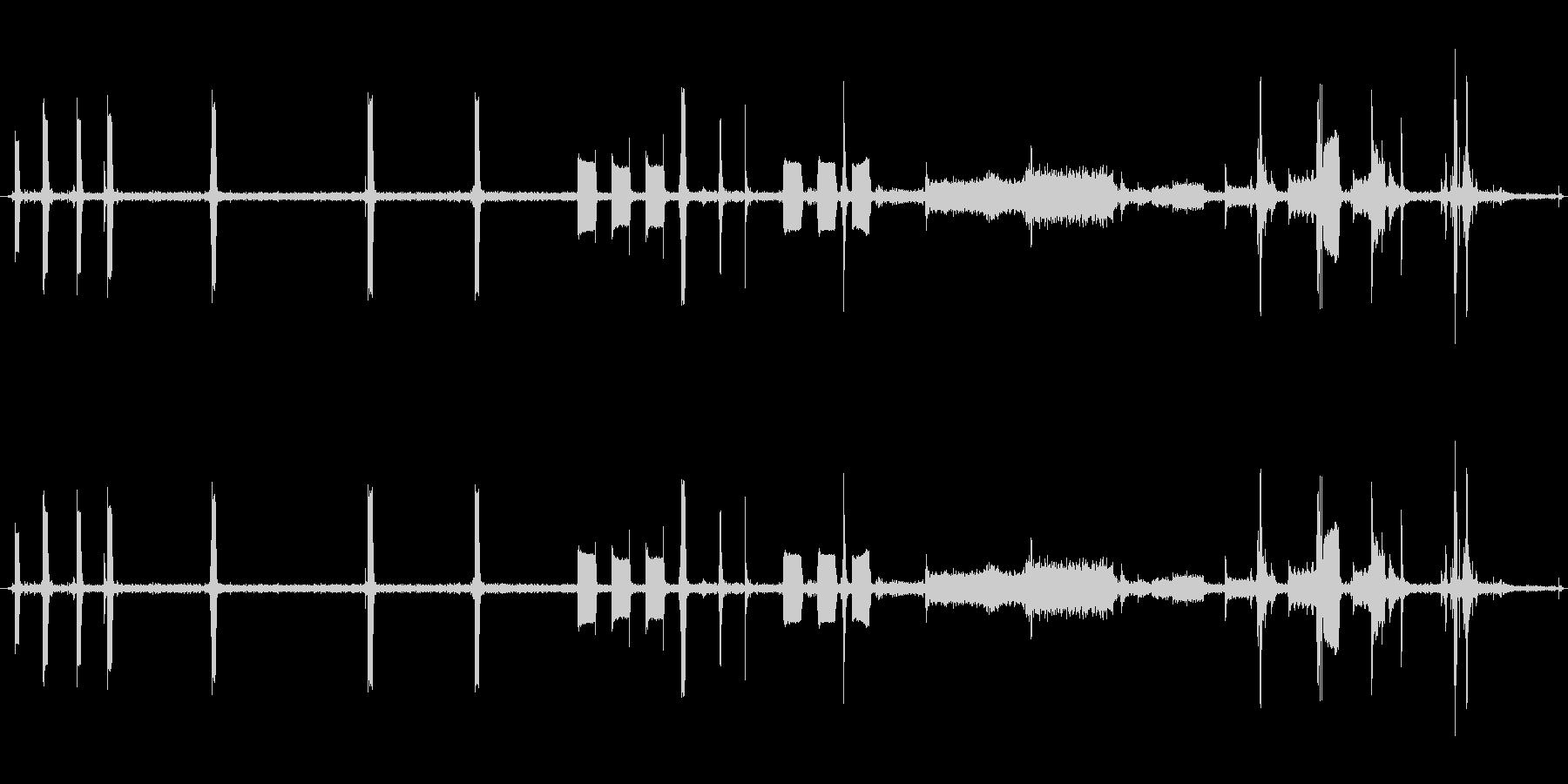 レジの未再生の波形