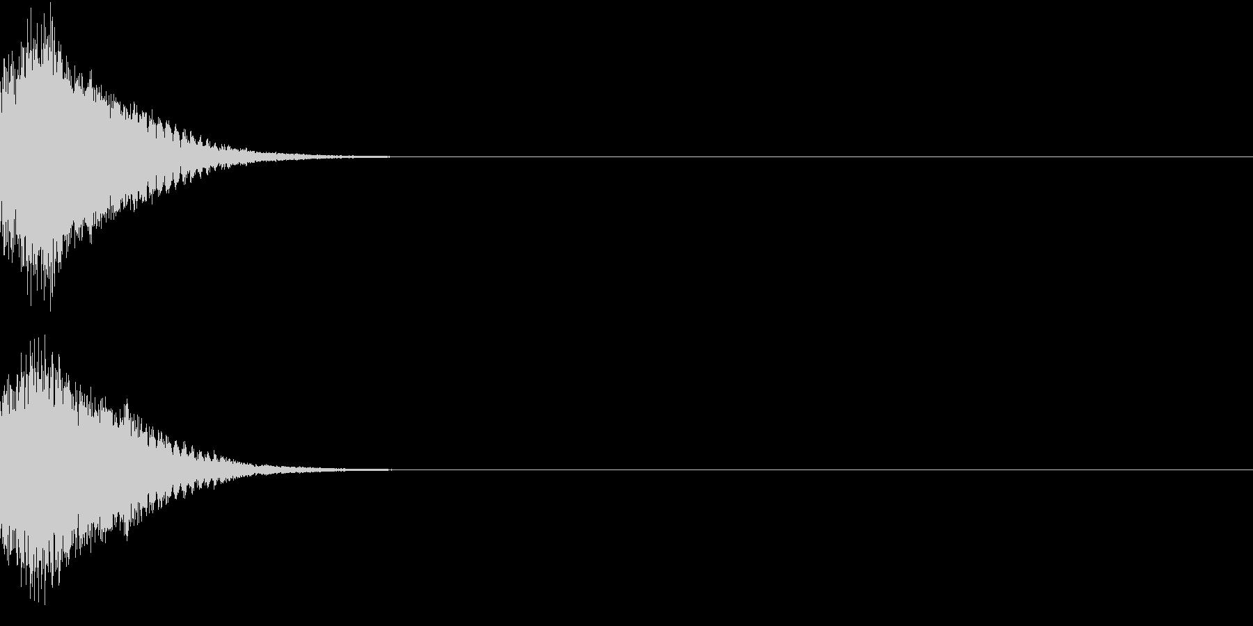 刀 剣 カキーン シャキーン 目立つ24の未再生の波形