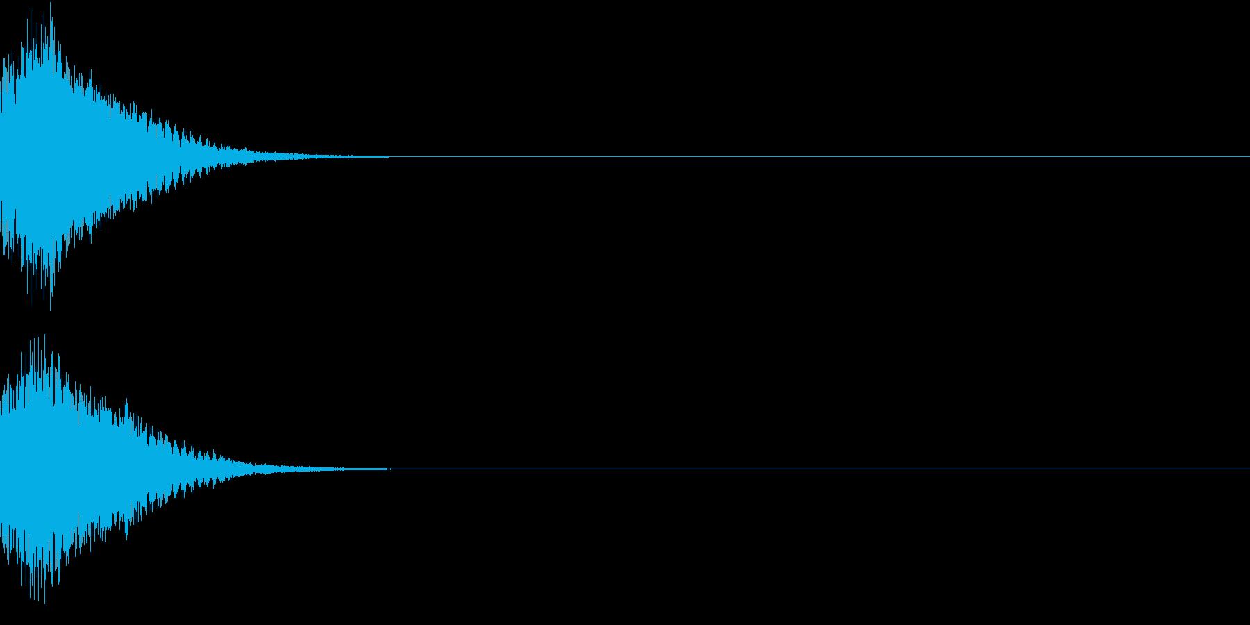 刀 剣 カキーン シャキーン 目立つ24の再生済みの波形