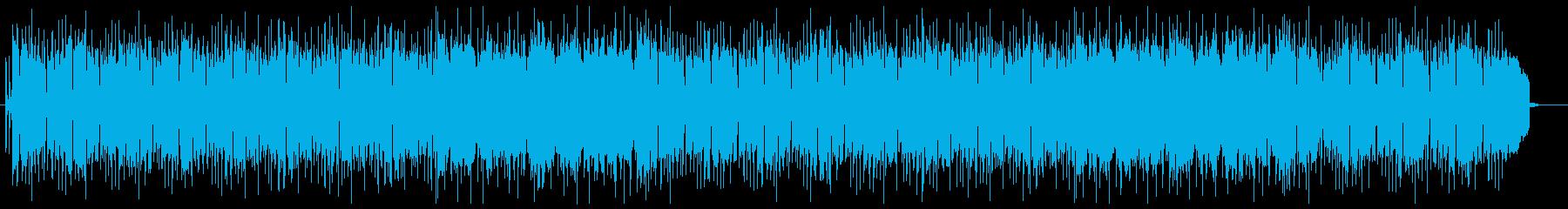 透明感と浮遊感のあるシンセ系BGMの再生済みの波形