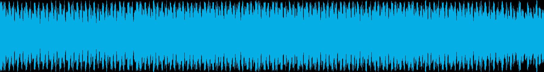 ギターとピアノの落ち着いたループ曲の再生済みの波形