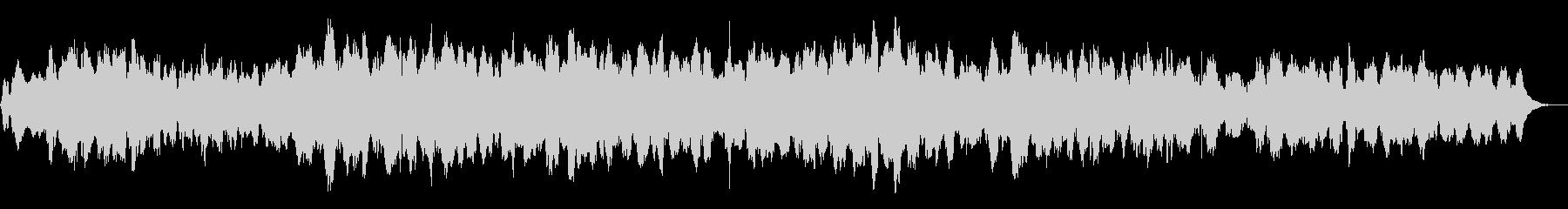 ソルフェジオ周波数を用いたヒーリング曲の未再生の波形