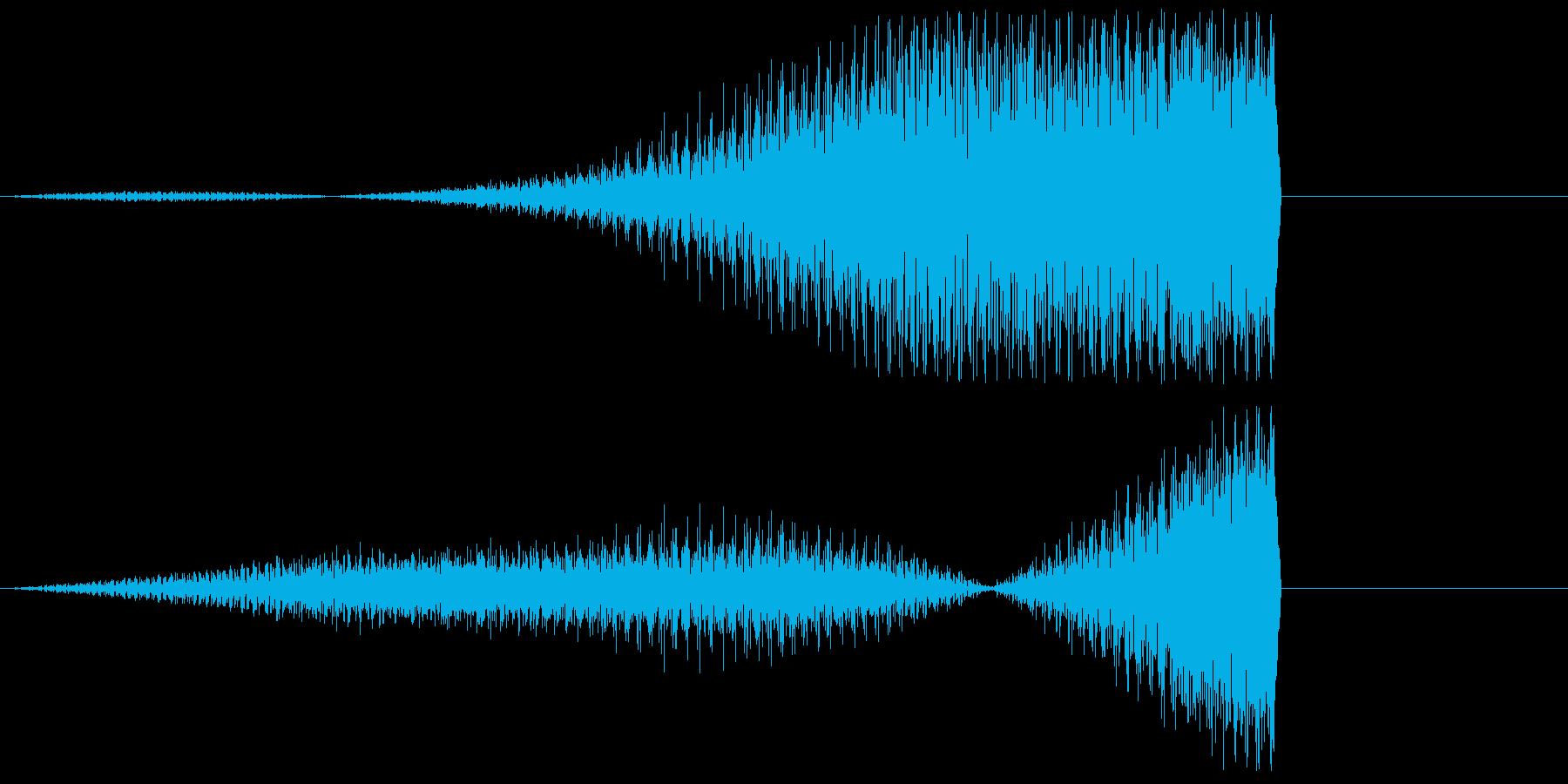ピアノの低音フェードイン(リバース)の再生済みの波形