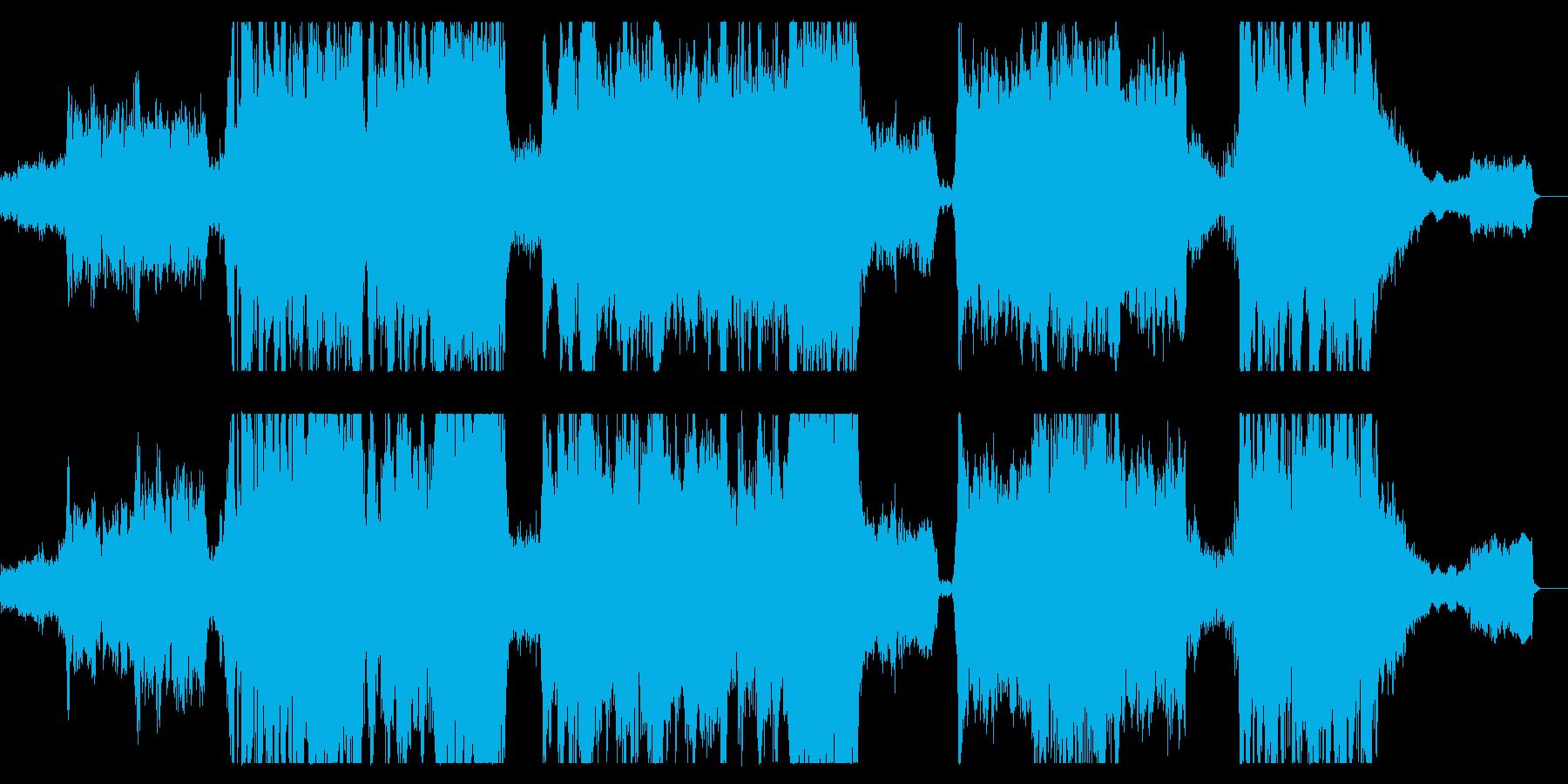 勇壮なフルオーケストラ曲の再生済みの波形