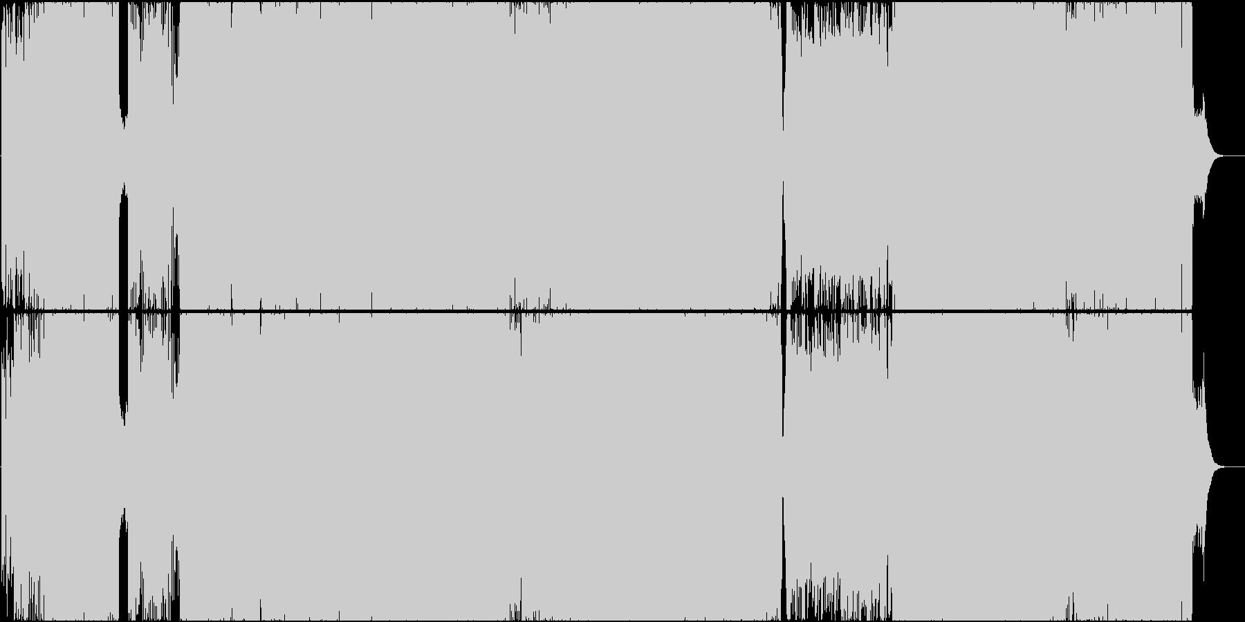 せつない和風物語歌曲(ハードロック)の未再生の波形
