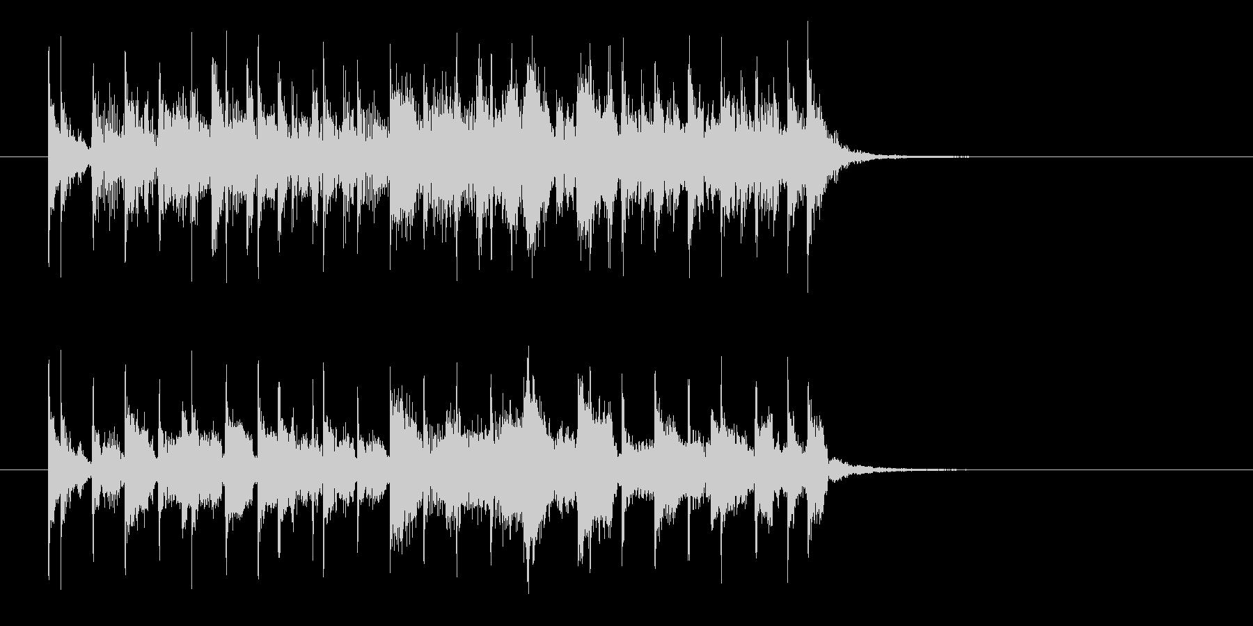 軽快でキャッチーな声入りエレキジングルの未再生の波形