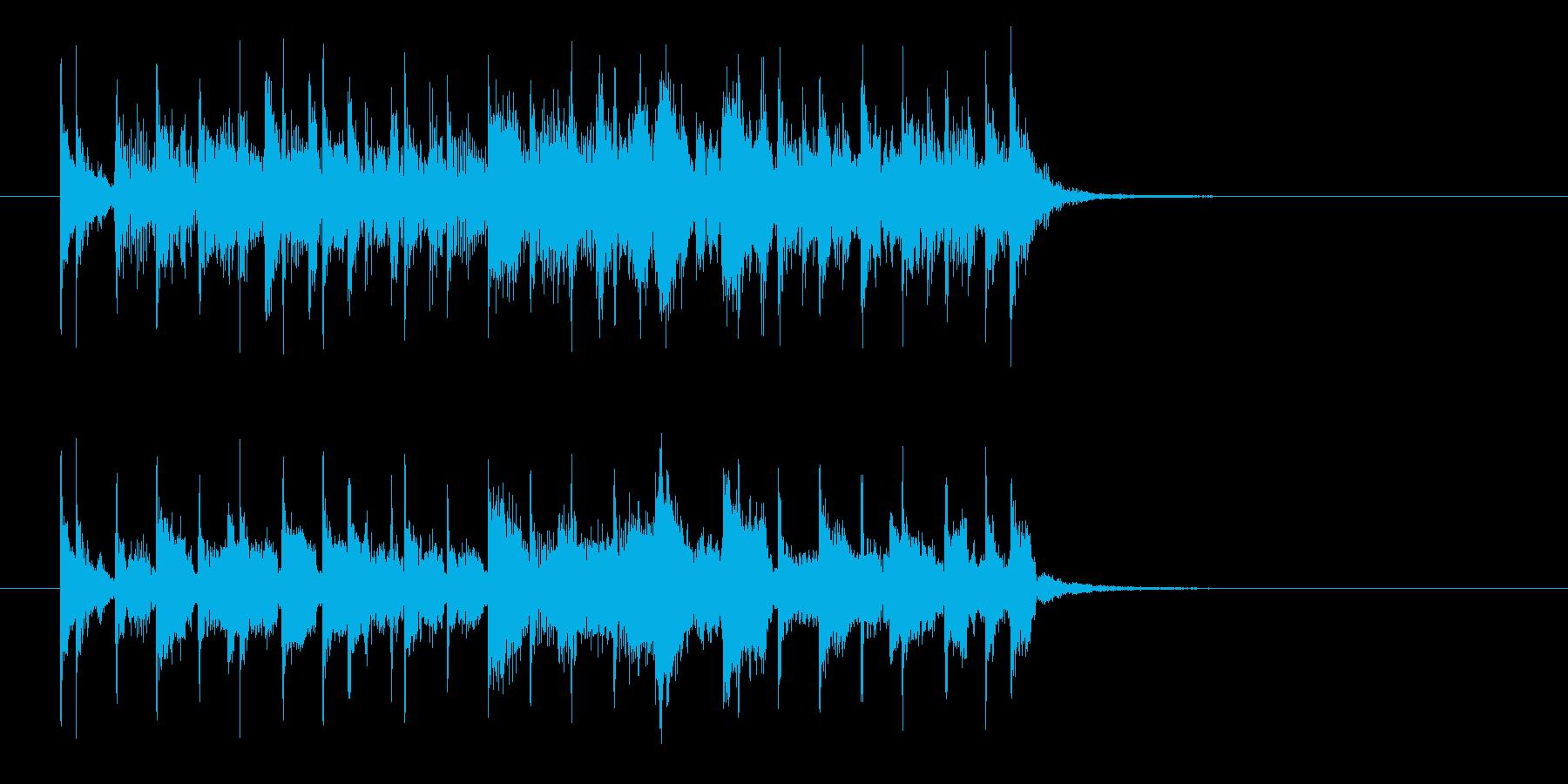 軽快でキャッチーな声入りエレキジングルの再生済みの波形