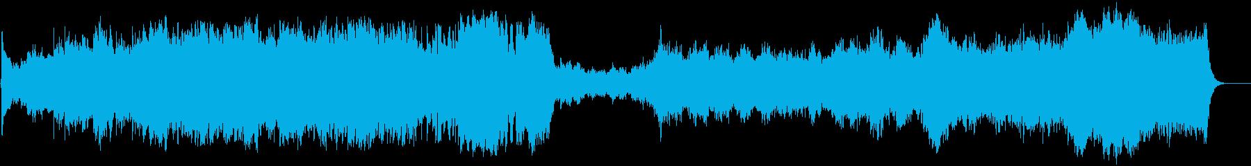 迫力と緊張感のあるオーケストラの再生済みの波形