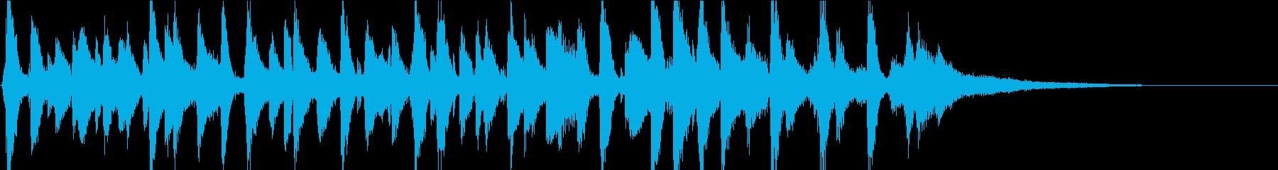 明るいピアノオールドジャズバンドジングルの再生済みの波形