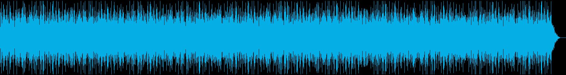 ゆったり包み込まれる高音のオルゴールの曲の再生済みの波形