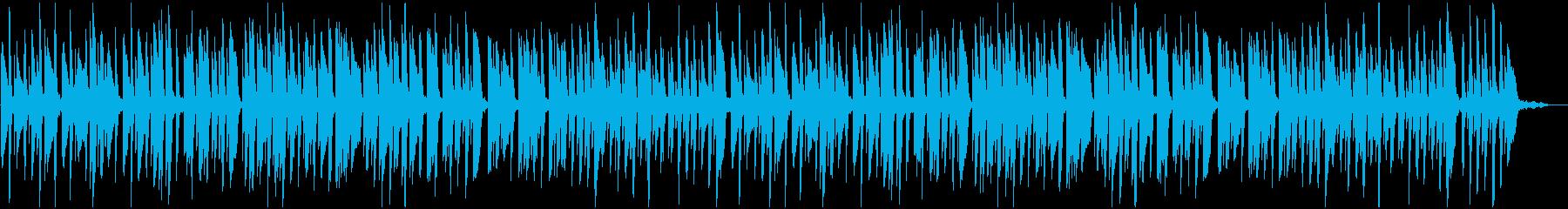 明るくワクワクするようなピアノBGMの再生済みの波形