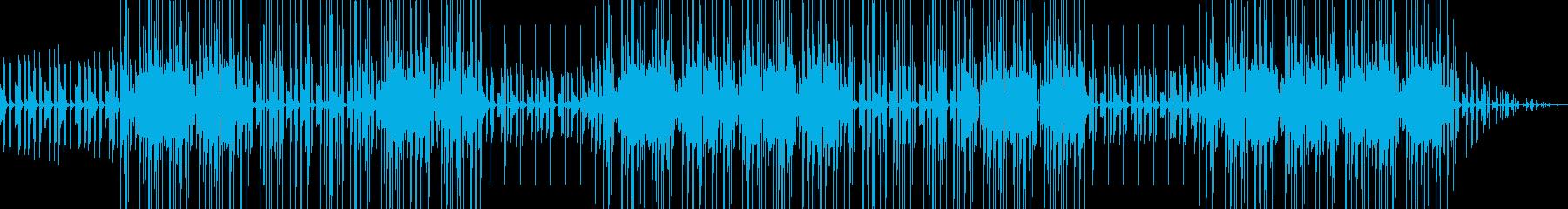 vlogおしゃれチルhiphopのビートの再生済みの波形