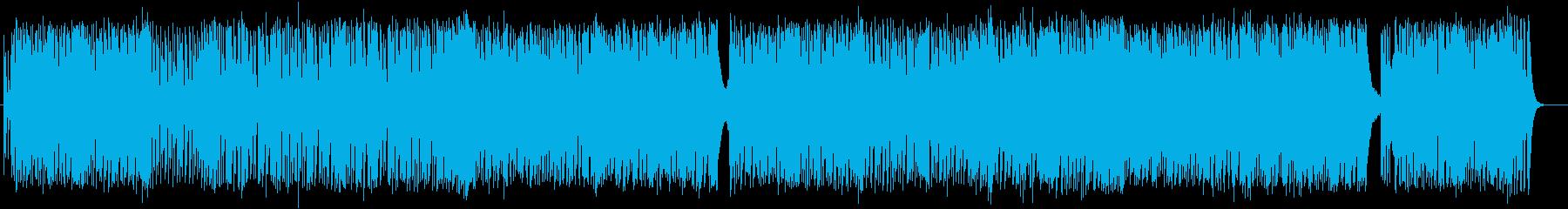 独特なテンポの緩やかシンセサウンドの再生済みの波形