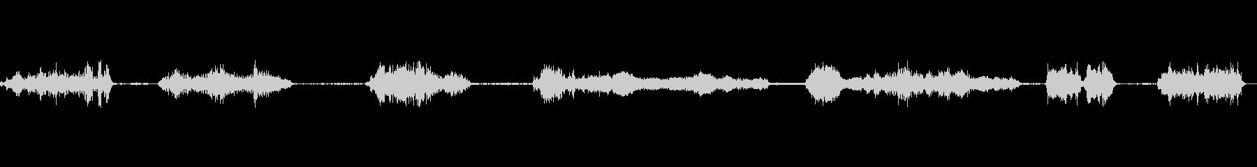 スローモーションのうなり声と成長ク...の未再生の波形