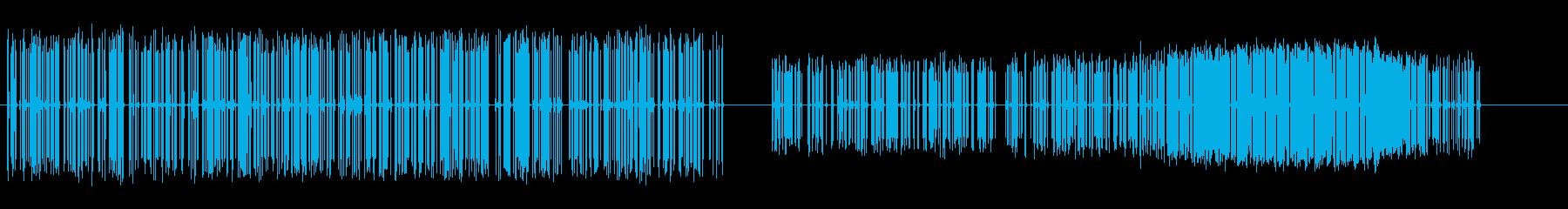 間欠泉高強度および極度強度カウンターの再生済みの波形