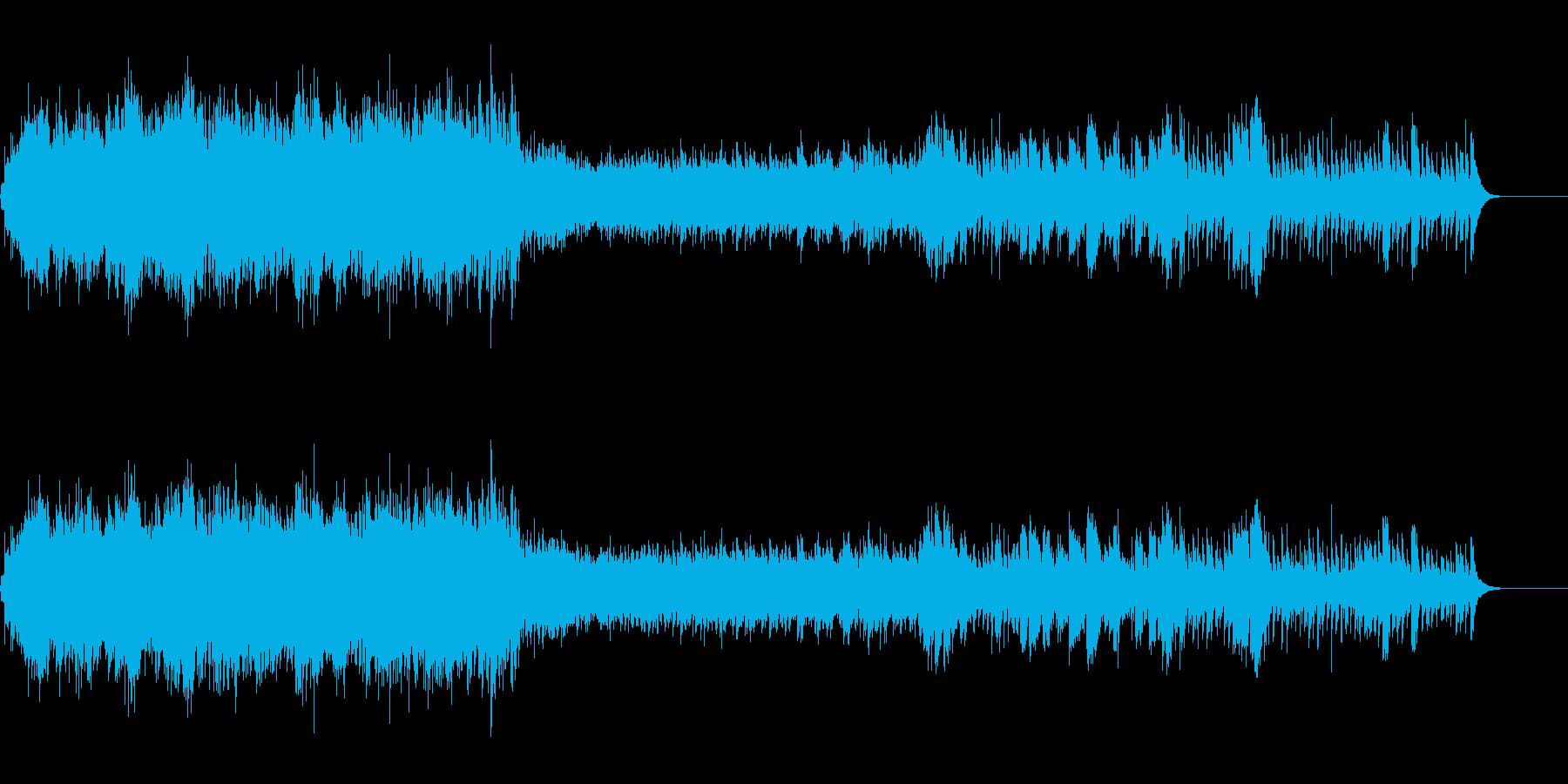 目覚まし時計のアラームベル音の再生済みの波形