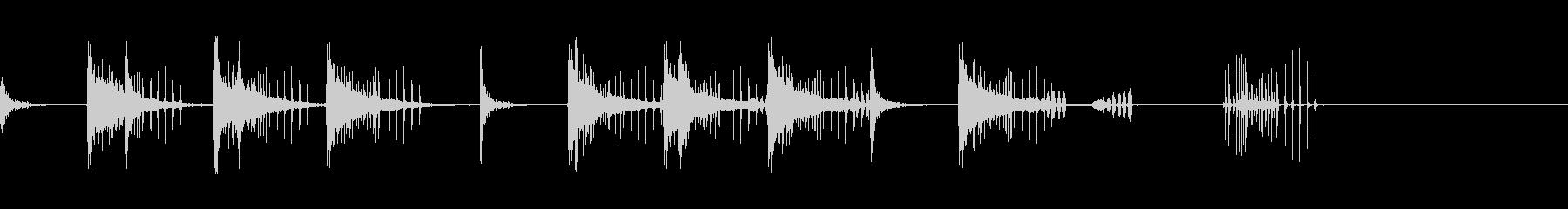とんとん(派手な建設中の音)B15の未再生の波形