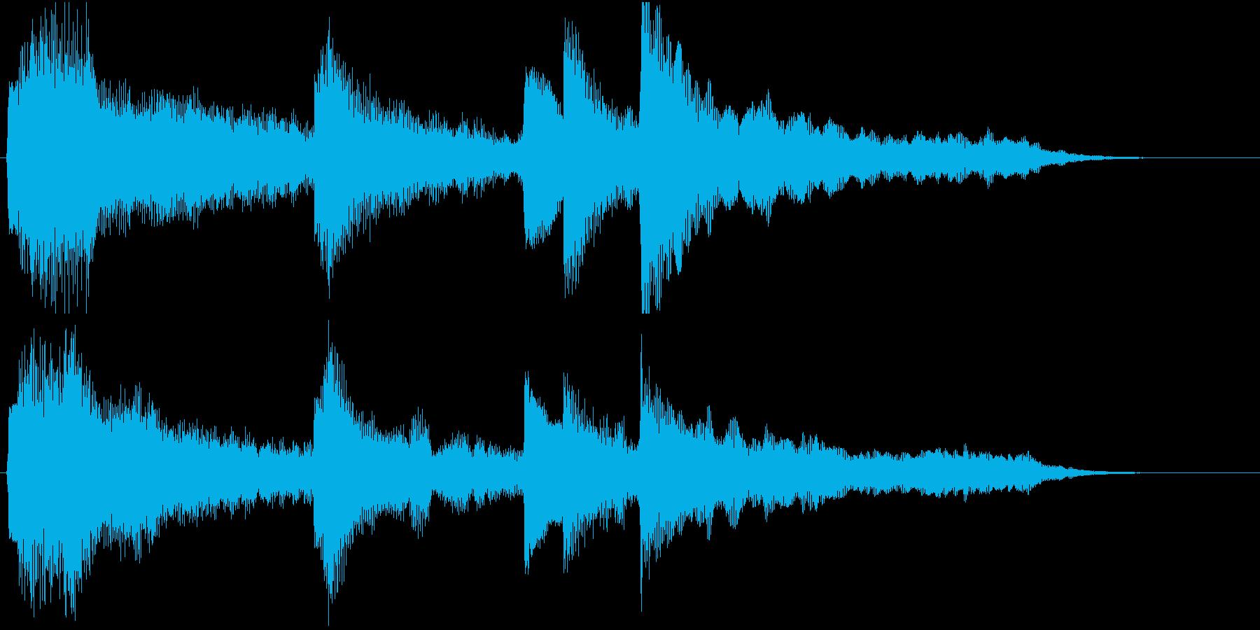 エンディング/ゲームオーバー用ジングルの再生済みの波形