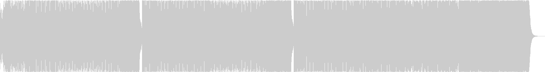 EDMなポップスの未再生の波形