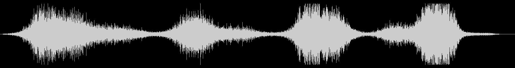 長いうなり音または回転するヒューという音の未再生の波形