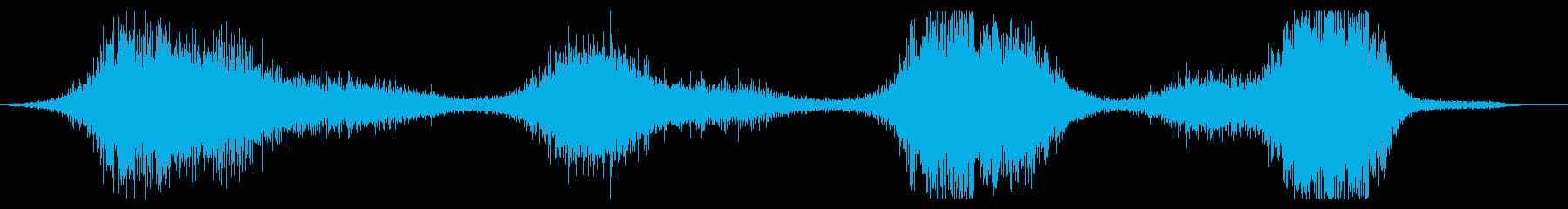 長いうなり音または回転するヒューという音の再生済みの波形
