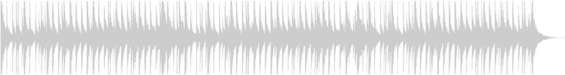 夏の夕暮れに合うノスタルジックなウクレレの未再生の波形