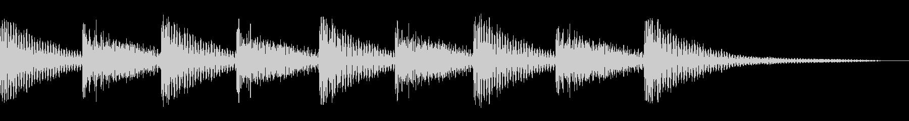 ティンパニ1エンディングの未再生の波形