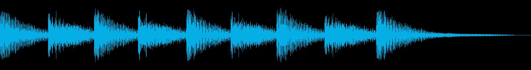 ティンパニ1エンディングの再生済みの波形