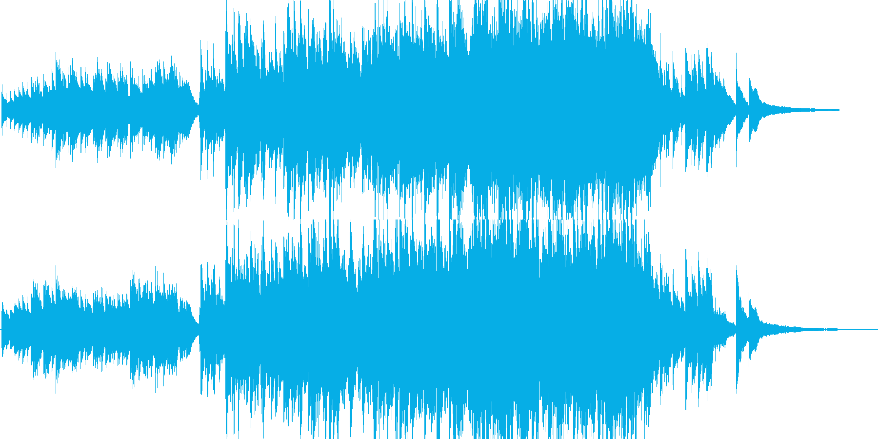 【映像作品用】ピアノと弦の曲 の再生済みの波形