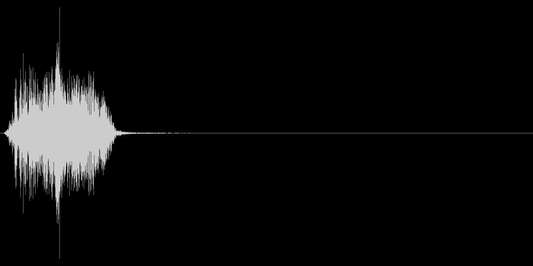ジッパー、ファスナーを閉じる音1-3の未再生の波形