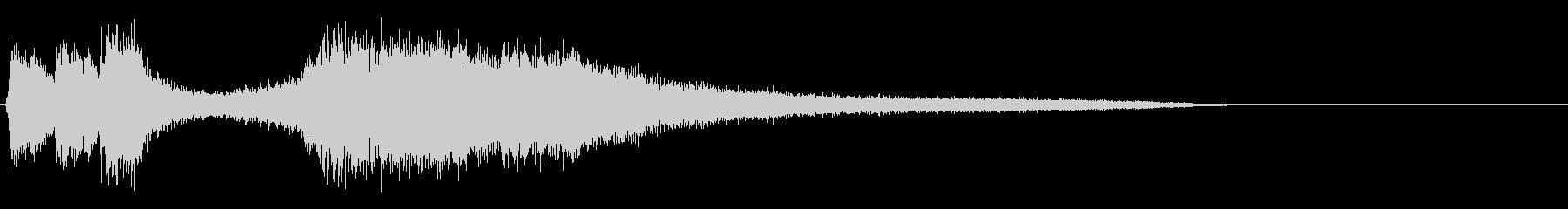 オーケストラエンディング+歓声の未再生の波形