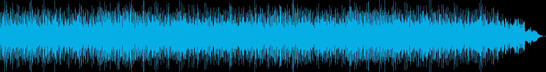 未来的で幻想的なテクノポップBGMの再生済みの波形
