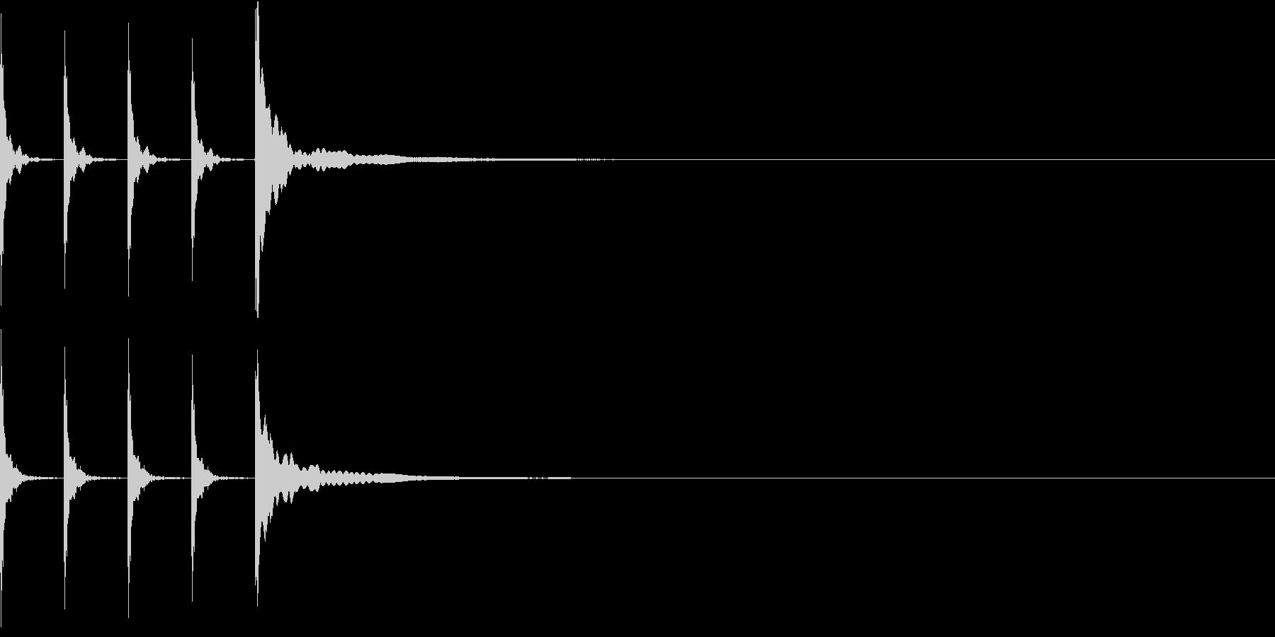 ポクポクポクチーン 木魚その3の未再生の波形