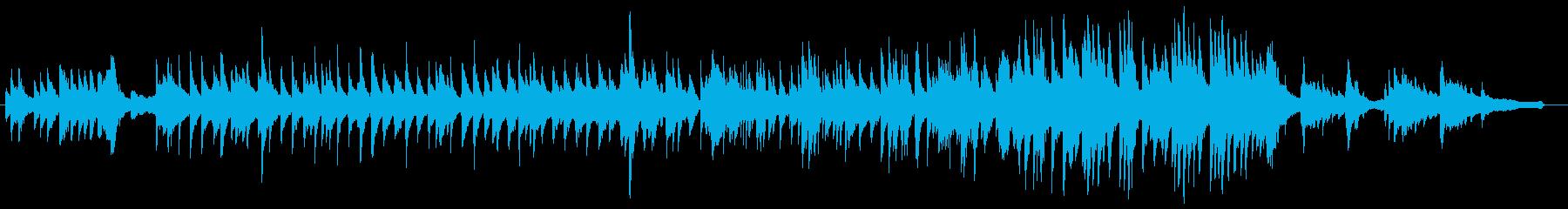 柔らかく揺れる美しいピアノジャズワルツの再生済みの波形