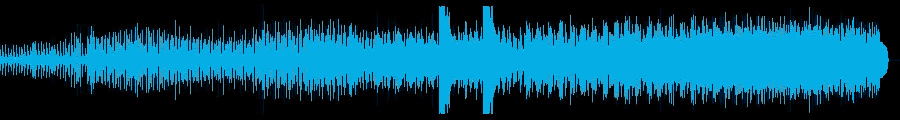 シンプルなダブテクノの再生済みの波形