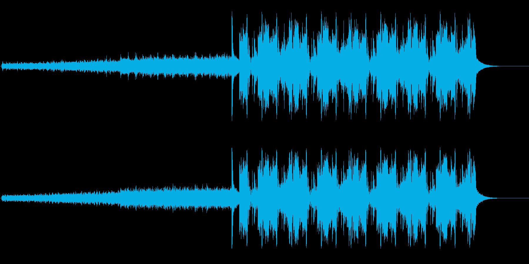 かっこいい変則ビートの再生済みの波形