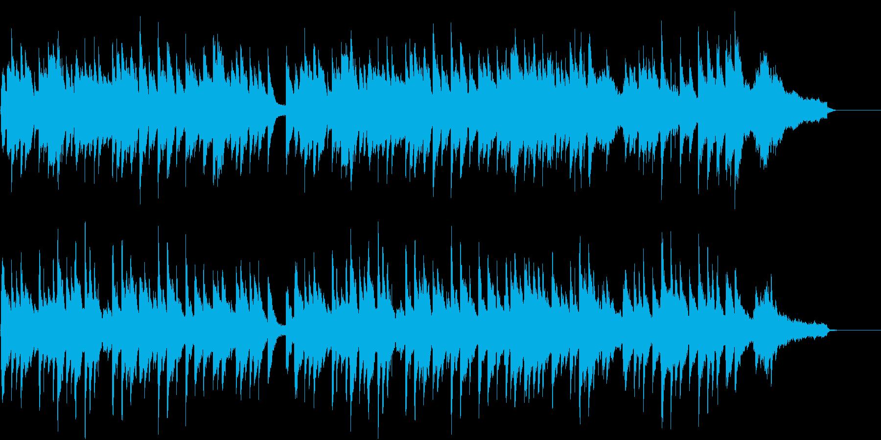回想シーンや儚さを表すピアノ楽曲の再生済みの波形