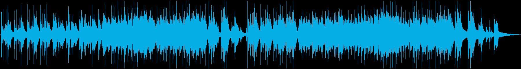 ハープとピアノの静かで神秘的な曲の再生済みの波形