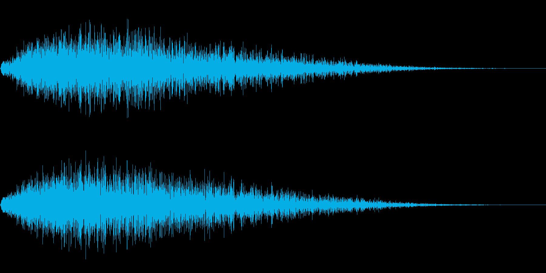 炎系魔法(ゴォォォォ…)の再生済みの波形