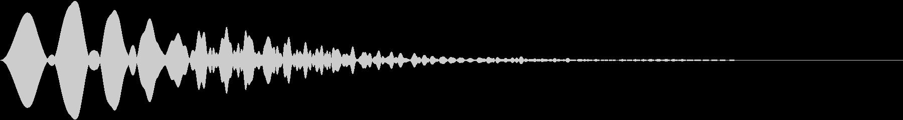 カーソル・決定・キャンセル音 「ピャウ」の未再生の波形