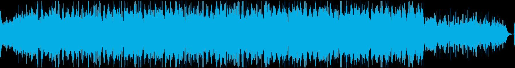 ほのぼの優しい和風曲(ループ)の再生済みの波形