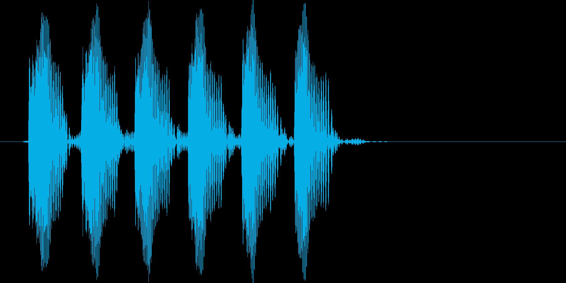 キャンセル音の再生済みの波形