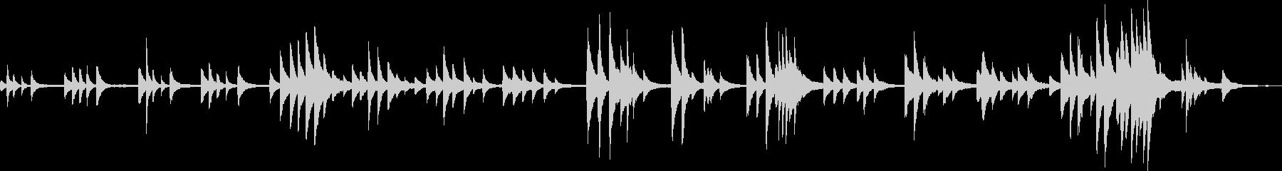 とある雪の日(ピアノ・幻想的・BGM)の未再生の波形