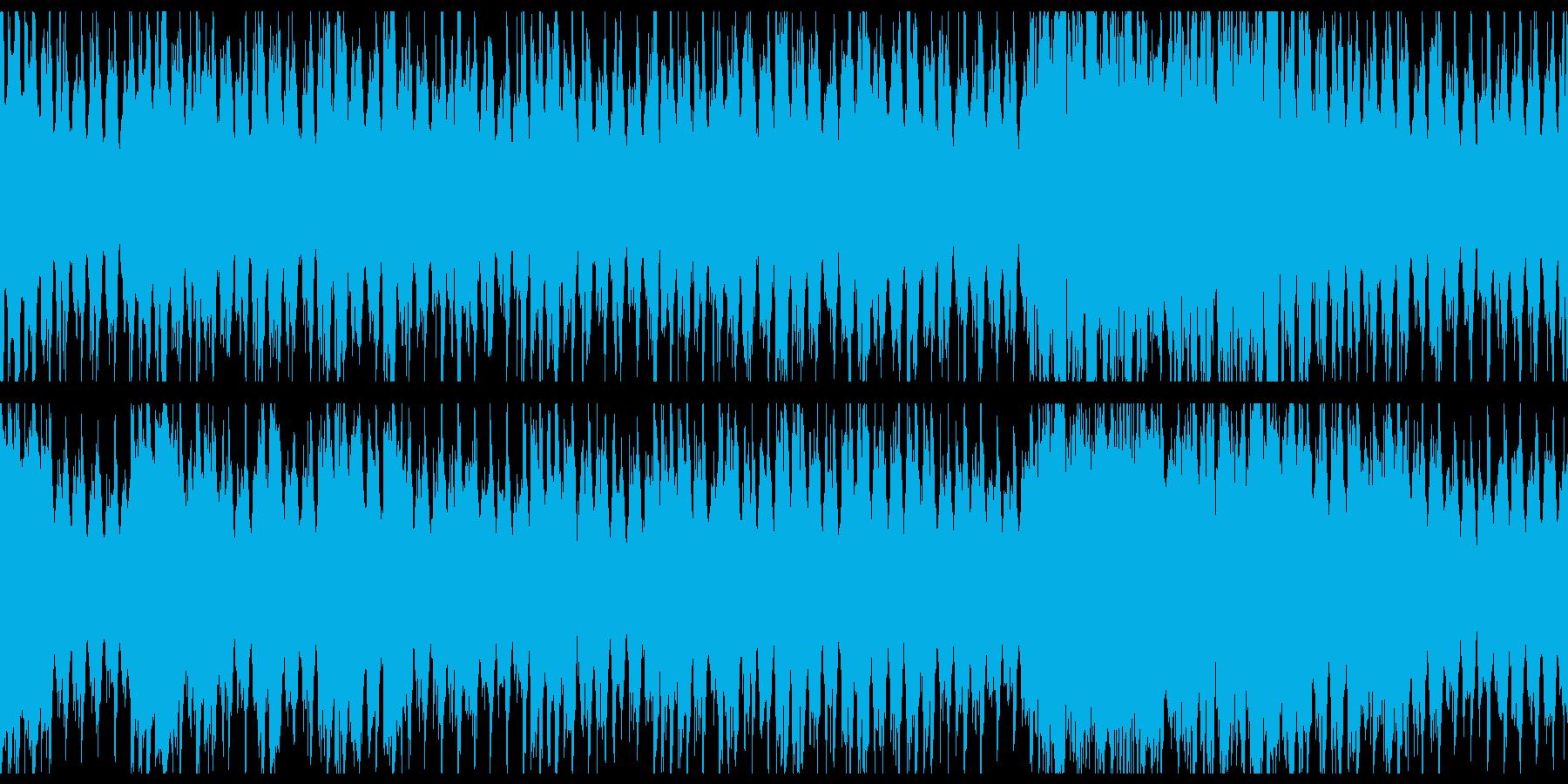 三味線・琴・尺八の神々しい和風4つ打ち曲の再生済みの波形