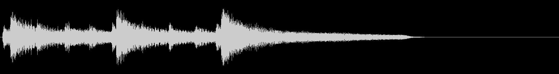 ジャズなジングル 251 場面転換の未再生の波形