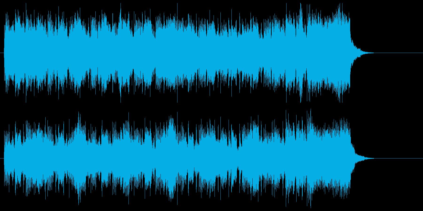 スピード感のあるポップスの再生済みの波形