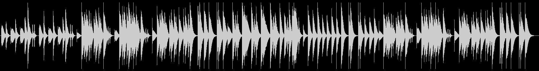 ほのぼのとしたマリンバの未再生の波形